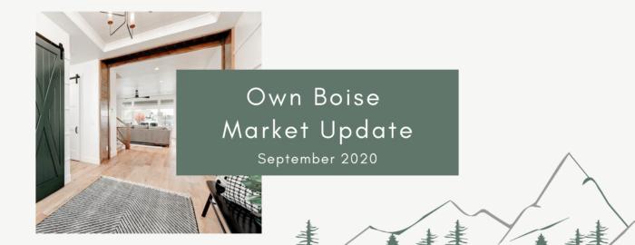Boise Real Estate Market Update | September 2020